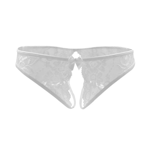 Women Sexy Lingerie hot erotic sexy panties | Crotchless underpants sex wear briefs with bow front - BULULU-SHOP (4350473863212)