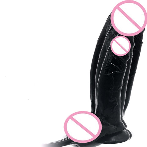 Huge Inflatable Dildo | Pump Big Butt Plug Penis Anal Butt Plug Realistic Large Soft Dildo Suction Cup Sex Toys 22*7cm