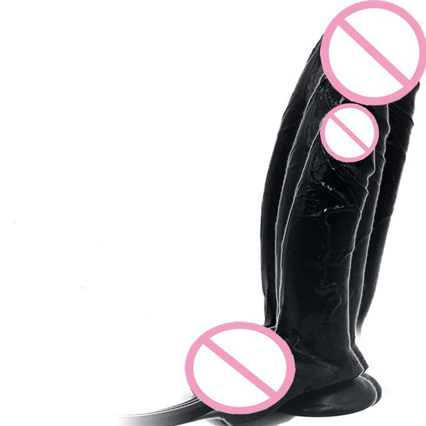 Huge Inflatable Dildo | Pump Big Butt Plug Penis Anal Butt Plug Realistic Large Soft Dildo Suction Cup Sex Toys 22*7cm - BULULU-SHOP (5244595798184)