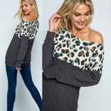 Leopard Casual Knit Sweater Top
