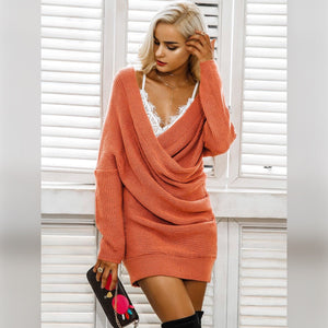 Criss Cross Wrap Tunic Sweater