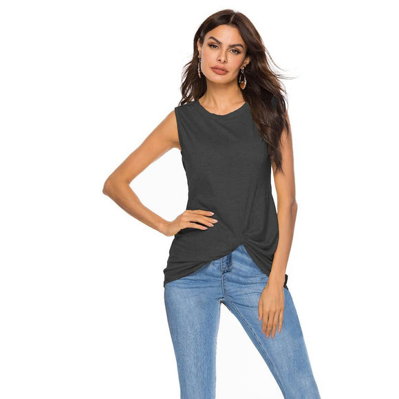 The Charcoal Twist Bottom Tank Top