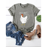 Chicken Printed Graphic Tee