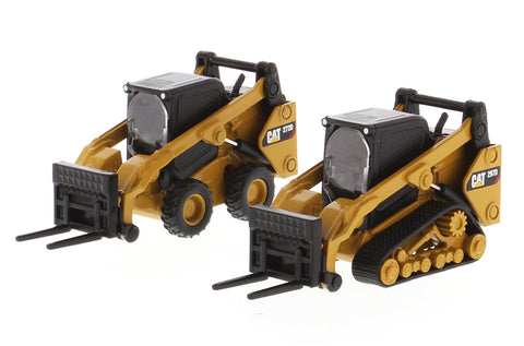 Caterpillar 272D2 Skid Steer Loader & Caterpillar 297D2 Compact Track Loader with Accessories (85609)