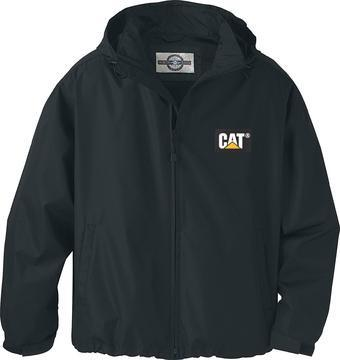 Black sports coat with CAT logo on left breast