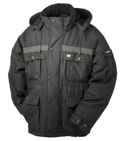 Black heavy insulated parka