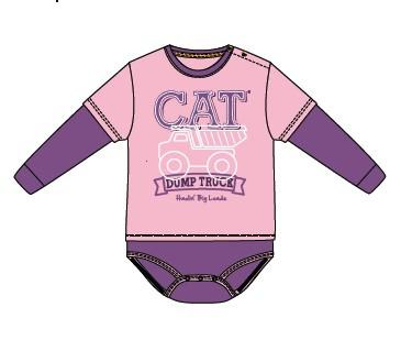 Children's CAT Pink Onesie