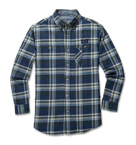SHIRT PLAID BLU