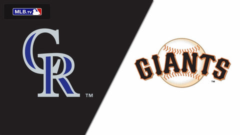 Rockies vs Giants MLB