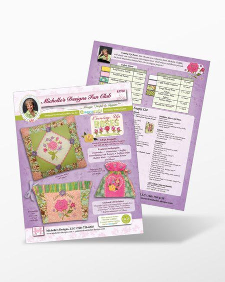 Coming Up Roses Embroidery Designs CD for GO! by Michelle Griffith - Kawartha Quilting and Sewing LTD.