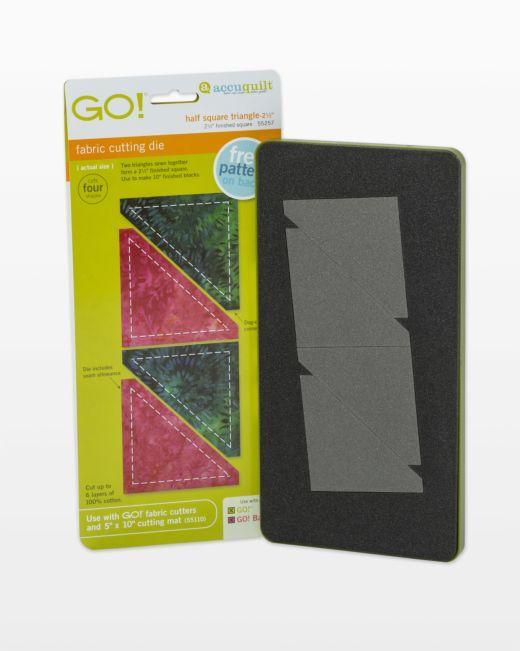 "GO! Half Square Triangle-2 1/2"" Finished Square Die - Kawartha Quilting and Sewing"