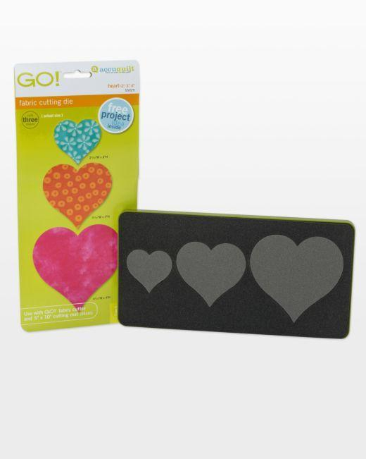 "GO! Heart-2"", 3"", 4"" Die - Kawartha Quilting and Sewing"