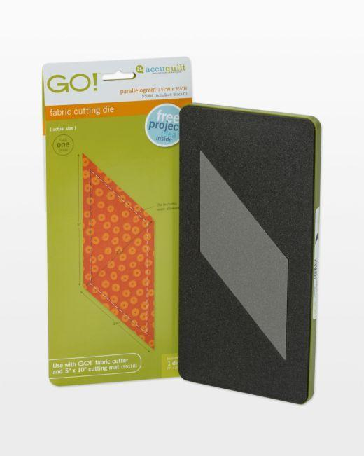 "GO! Parallelogram 45°-3 11/16"" x 4 15/16"" Sides (3"" x 4 1/4"") Die - Kawartha Quilting and Sewing"