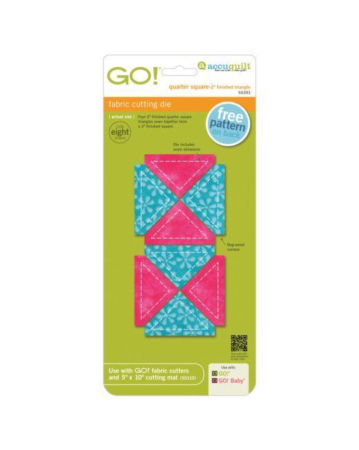 "GO! Quarter Square Triangle-2"" Finished Square Die - Kawartha Quilting and Sewing"