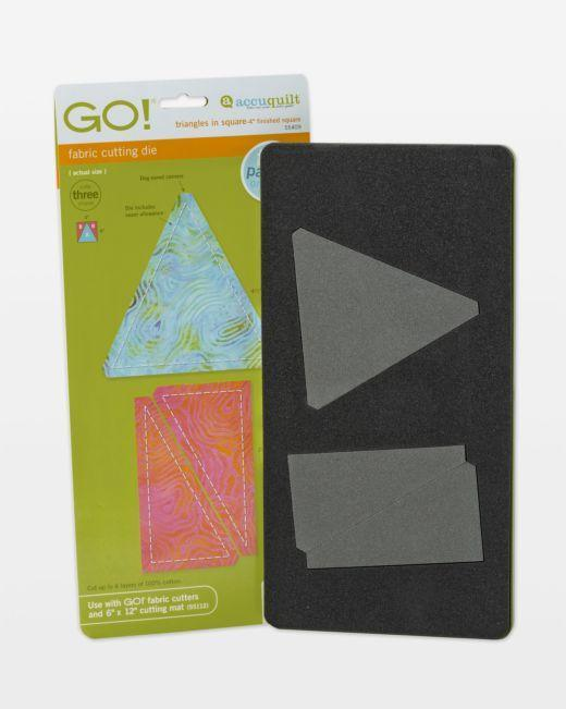 "GO! Triangles in Square-4"" Finished Square Die"