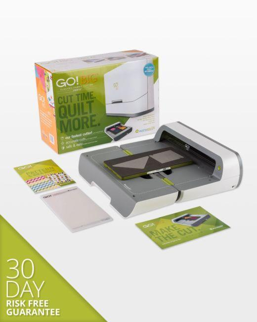 AccuQuilt GO! Big Electric Fabric Cutter Starter Set - $150USD Mail-In Rebate! - Kawartha Quilting and Sewing LTD.