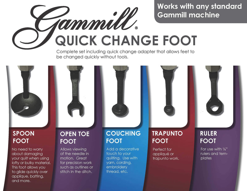 Gammill Quick Change Foot Set - Kawartha Quilting and Sewing LTD.