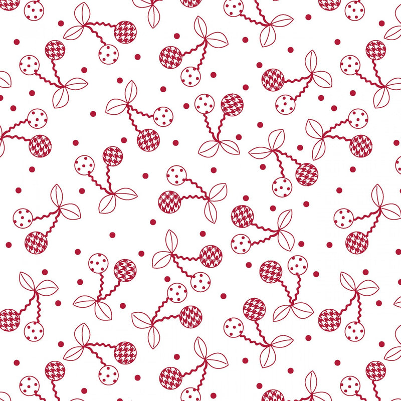 "Cheerful Cherries - Red - 44/45"" Wide - Kimberbell Basics - Kawartha Quilting and Sewing"