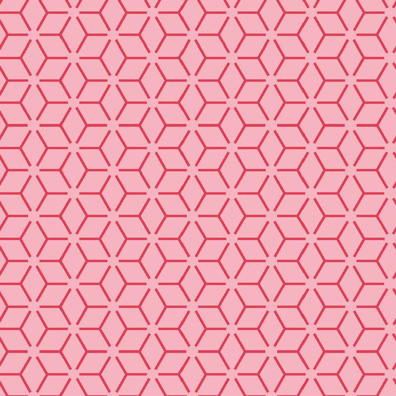 "Connected Stars - Pink - 44/45"" Wide - Kimberbell Basics - Kawartha Quilting and Sewing LTD."