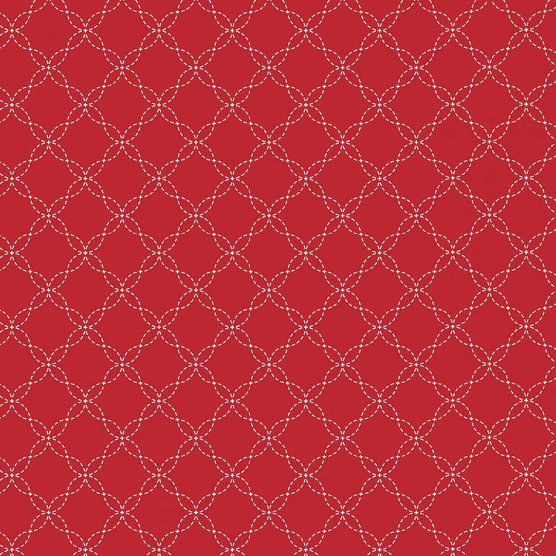 "Lattice - Red - 44/45"" Wide - Kimberbell Basics - Kawartha Quilting and Sewing LTD."