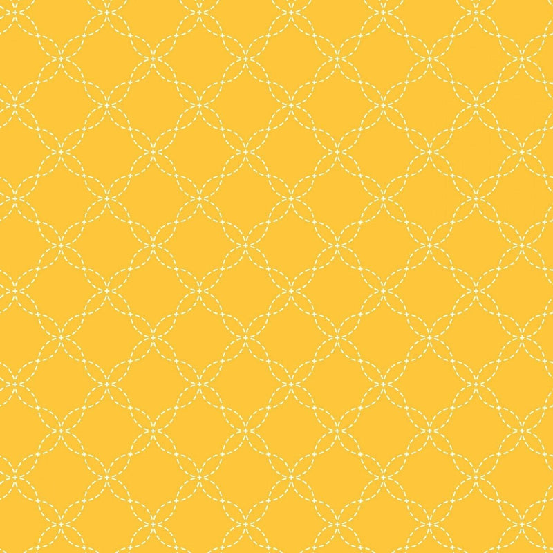 "Lattice - Yellow - 44/45"" Wide - Kimberbell Basics - Kawartha Quilting and Sewing LTD."