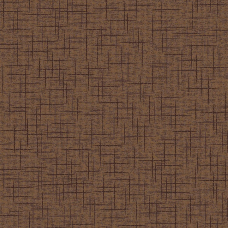 "Linen Texture - Brown - 44/45"" Wide - Kimberbell Basics - Kawartha Quilting and Sewing LTD."
