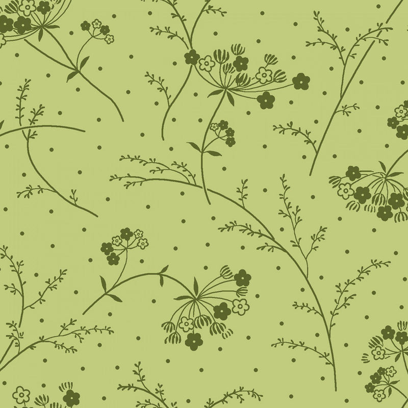 "Queen Anne's Lace - Green - 44/45"" Wide - Kimberbell Basics - Kawartha Quilting and Sewing LTD."