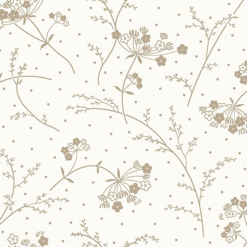 "Queen Anne's Lace - White/Taupe - 44/45"" Wide - Kimberbell Basics - Kawartha Quilting and Sewing"