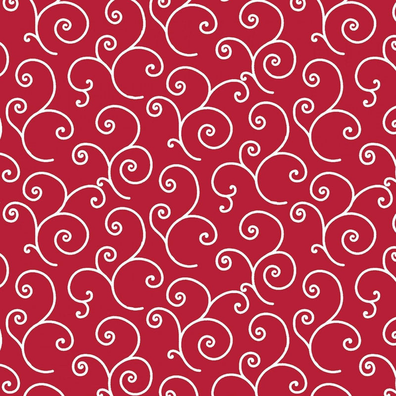"Scroll - Red - 44/45"" Wide - Kimberbell Basics - Kawartha Quilting and Sewing LTD."