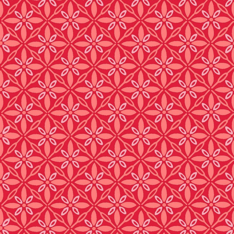 "Tufted Star - Red - 44/45"" Wide - Kimberbell Basics - Kawartha Quilting and Sewing LTD."