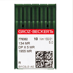 Groz-Beckert Size 130/21 (5.0) MR Steel Needle - 1 Package of 10 Needles