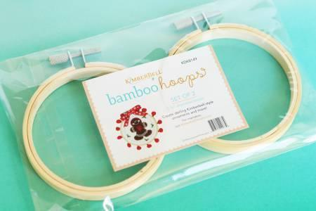 "3.5"" Bamboo Embroidery Hoops Set of Two"