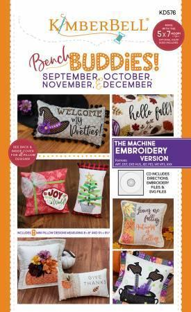Bench Buddies! - September, October, November and December - Machine Embroidery CD - Kawartha Quilting and Sewing LTD.