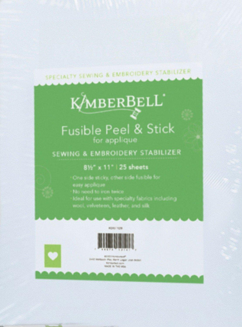 "Fusible Backing - Peel & Stick for Easy Applique - 8 1/2"" x 11"" Precuts - Package of 25 - Kimberbell - Kawartha Quilting and Sewing"