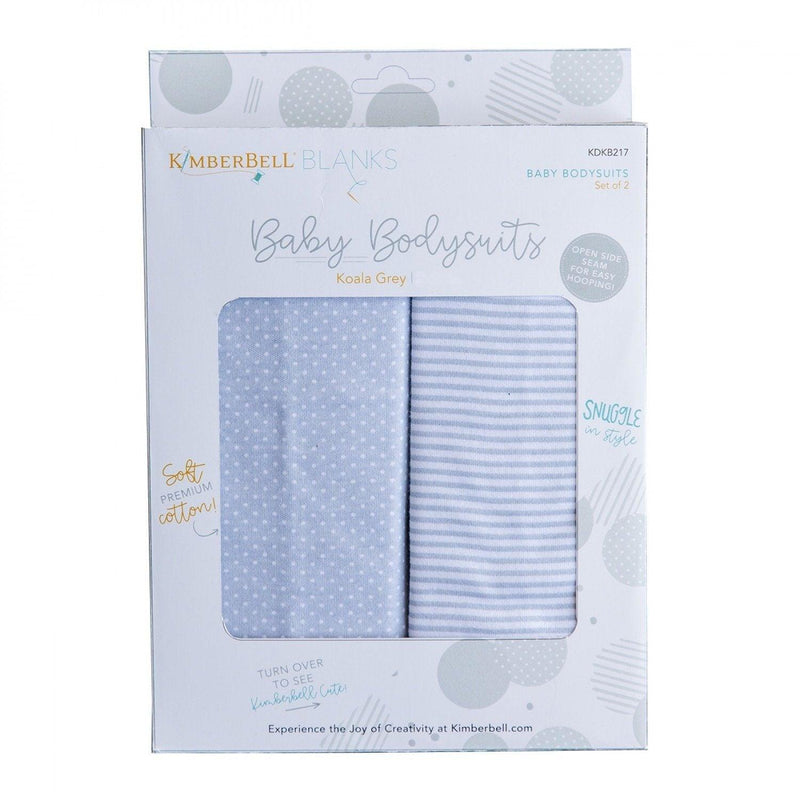 Baby Bodysuits - Koala Grey -  (3-6 Months) - Pack of 2 - Kimberbell - Kawartha Quilting and Sewing