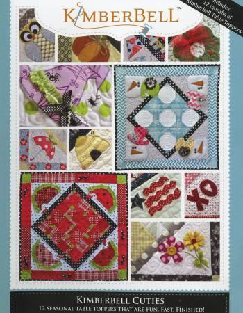 Cuties - 12 Seasonal Tabletoppers - Softcover Book - Kimberbell - Kawartha Quilting and Sewing