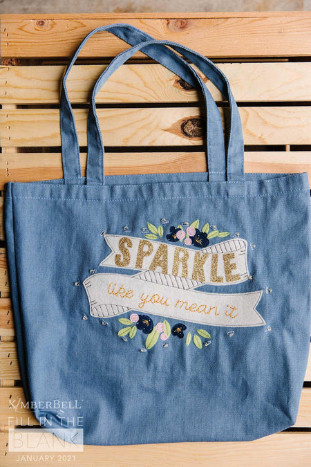 "Kimberbell Fill in The Blank - January: Chambray Tote - 15"" x 17"" - Kawartha Quilting and Sewing"