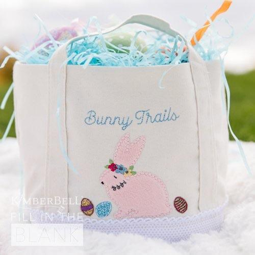 Kimberbell Fill in The Blank - March: Bunny Busket! Canvas Tote - Kawartha Quilting and Sewing