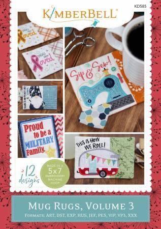 Mug Rugs - Volume 3 - Holiday & Seasonal - Machine Embroidery CD - Kimberbell - Kawartha Quilting and Sewing