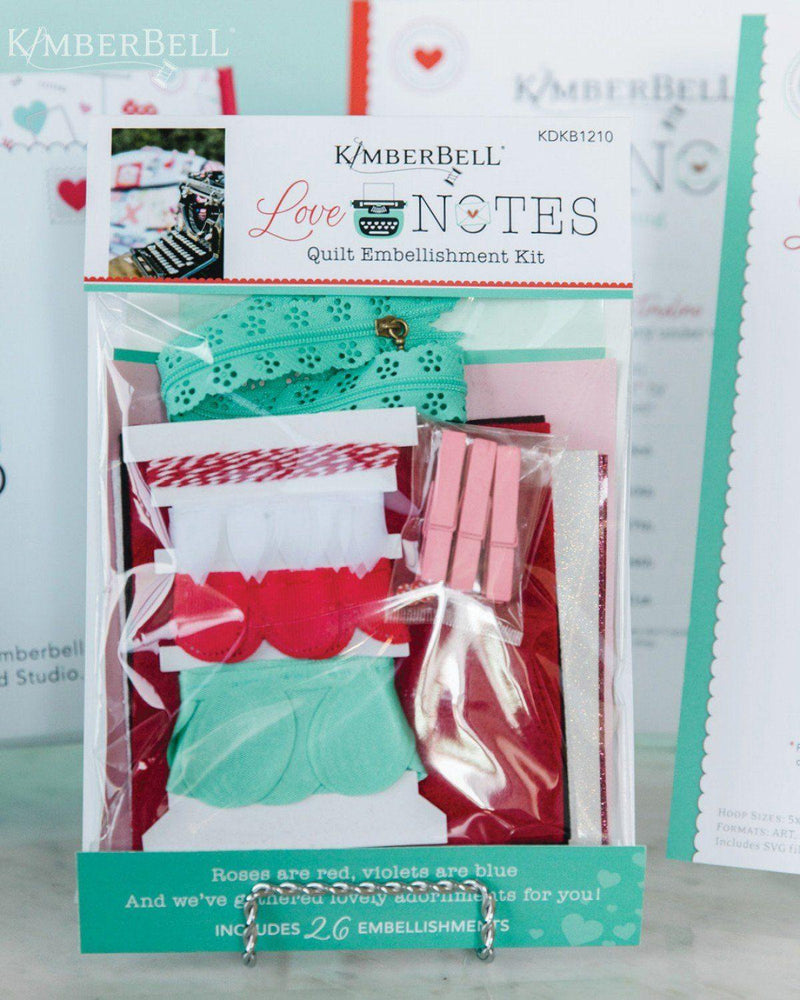 Love Notes - Embellishment Kit - Kawartha Quilting and Sewing LTD.