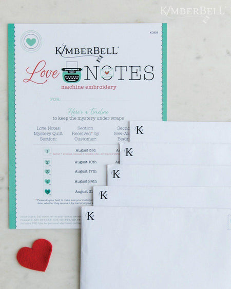 PREORDER: Love Notes - For Machine Embroidery CD - Kawartha Quilting and Sewing LTD.