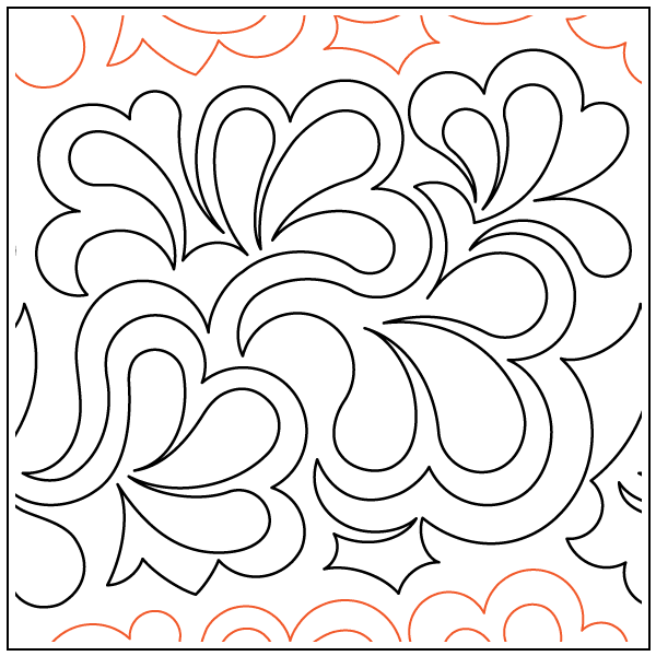 Featherfall - Paper Pantograph - Kawartha Quilting and Sewing LTD.