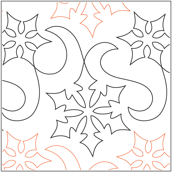 Snow Winds - Paper Pantograph - Kawartha Quilting and Sewing LTD.
