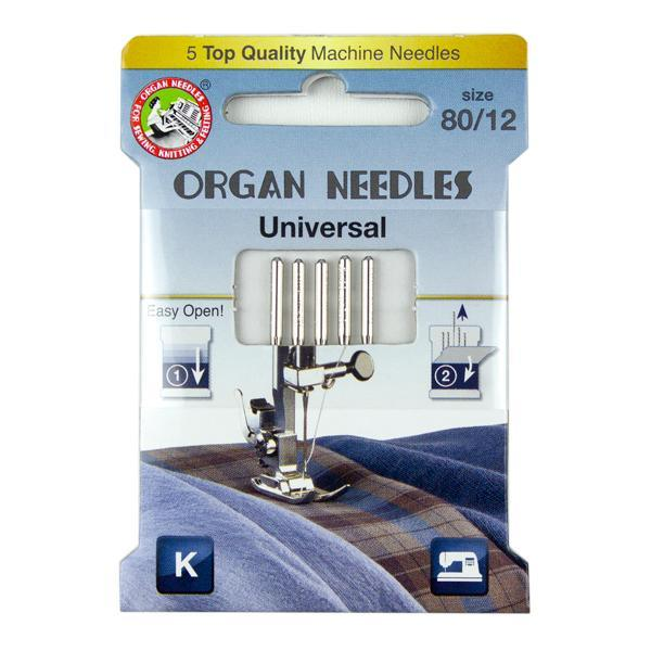 Organ Needle Universal Size 80, 5 Needle Eco Pack - Kawartha Quilting and Sewing LTD.