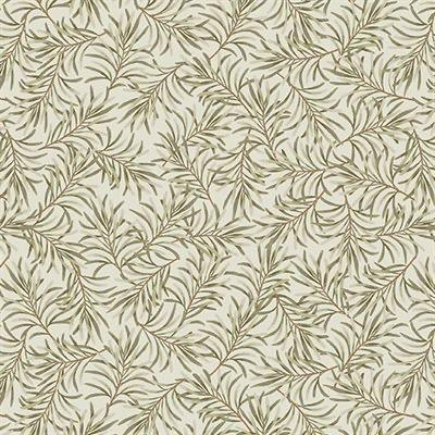 "Boughs of Beauty - Taupe / Green - 108"" Wide - Kawartha Quilting and Sewing"