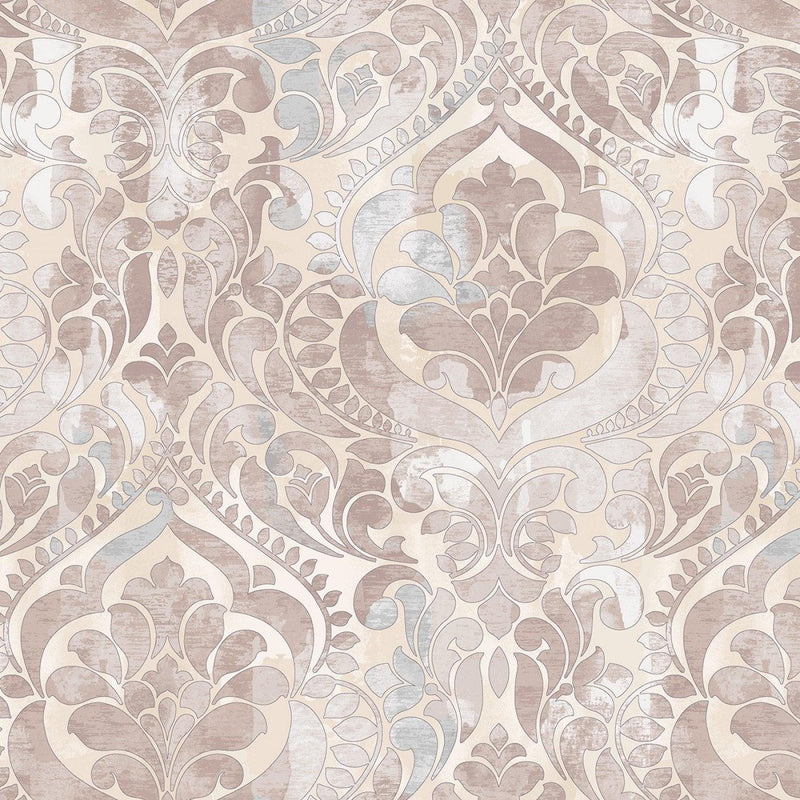"Damask Digital - Taupe - 108"" Wide"