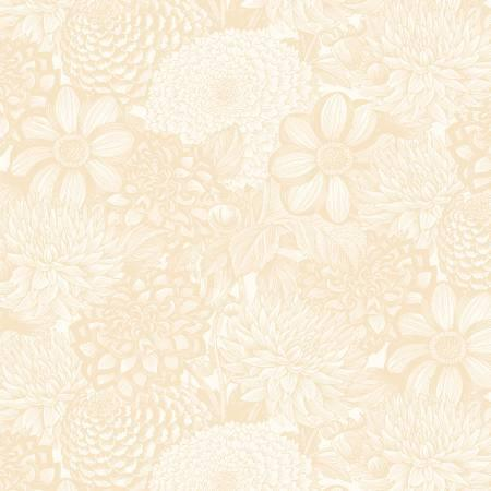 "Floral Toile - Cream - 108"" Wide"