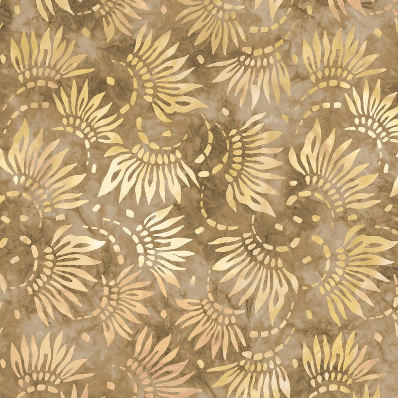 "Petals - Tan - 108"" Wide - Kawartha Quilting and Sewing LTD."