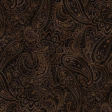 "Radiant Paisley - Chestnut - 108"" Wide"