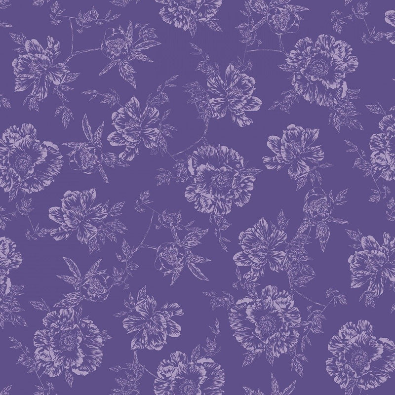 "Shadow Flower - Purple - 108"" Wide"